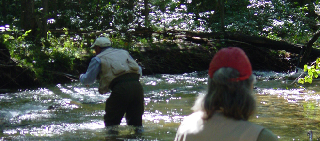 Humphreys and Hellman Fishing Laurel Run