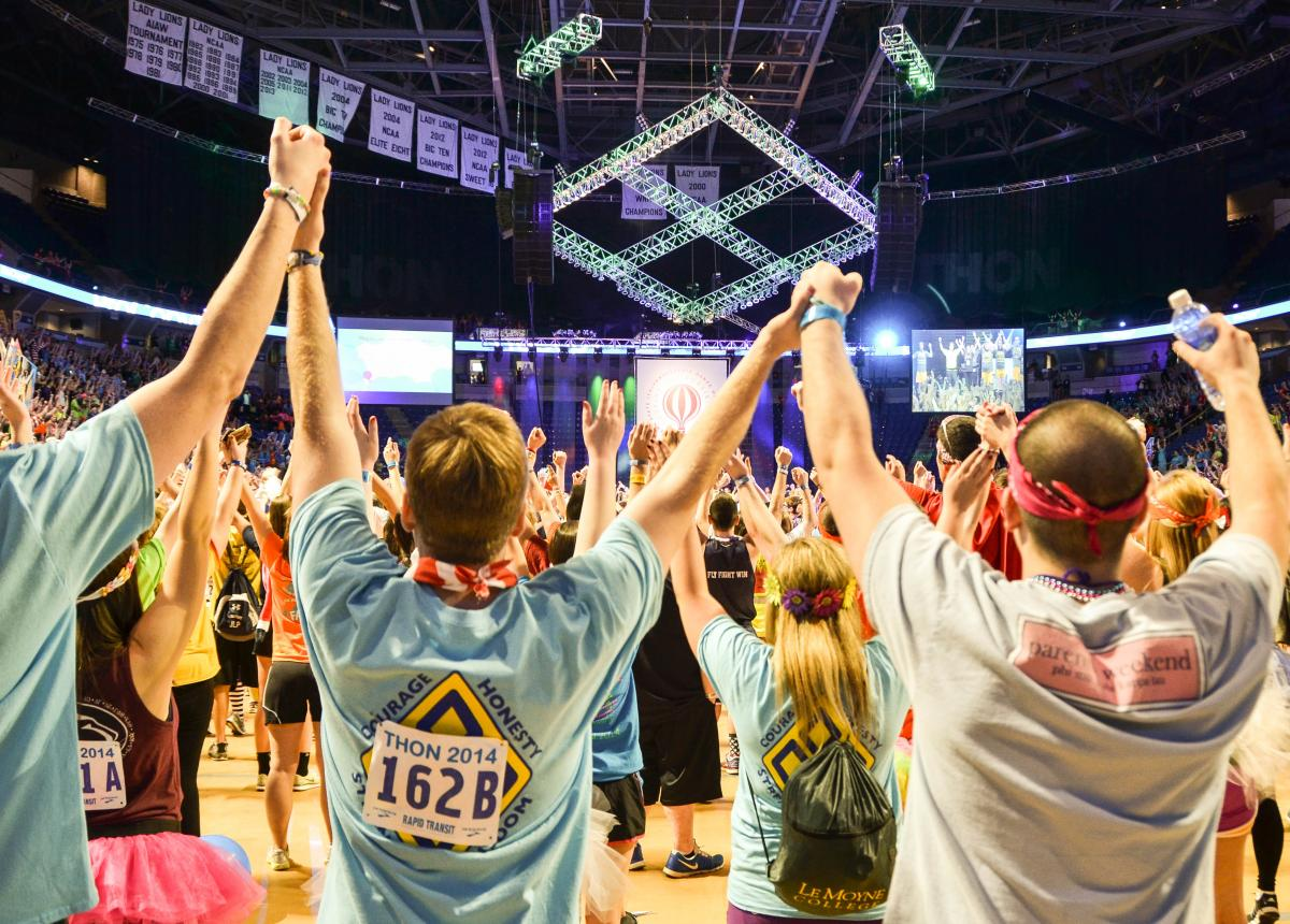 THON Dancers at the Bryce Jordan Center