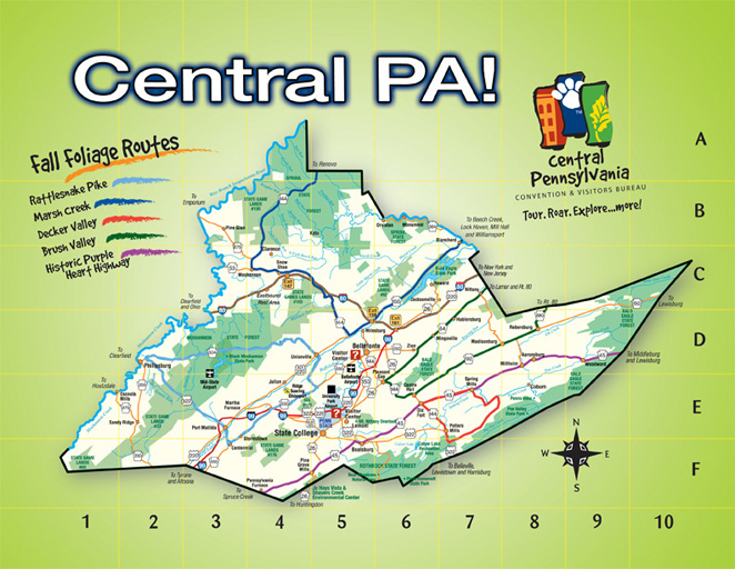 Centre County Sightseeing Things To See In State College PA – Tourist Attractions Map In Pennsylvania